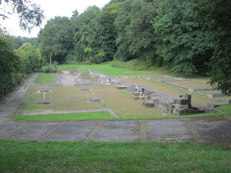 Vue générale des ruines de l'Abbaye de Clairlieu