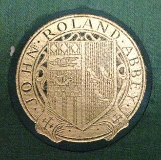 John Roland Abbey - John Ronald Abbey bookplate