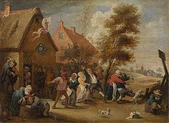 Abraham Teniers - Rural feast