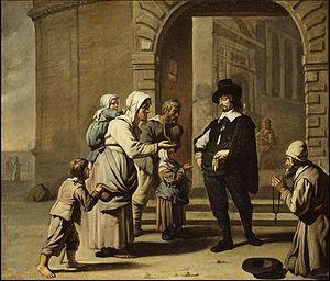 Abraham Willemsens - Beggars at a Doorway