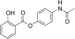 Kekulé, skeletal formula of acetaminosalol