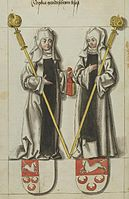 Adelaide, Abbess of Quedlinburg and Sophia, Abbess of Gandersheim.jpg