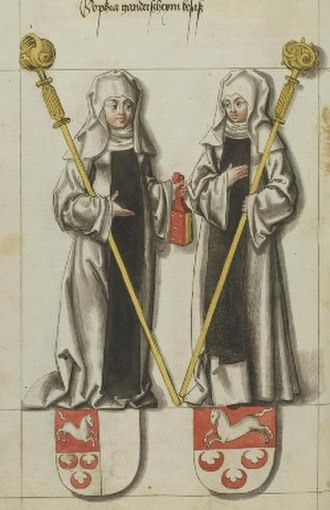 Adelaide I, Abbess of Quedlinburg - Adelaide and Sophia, 16th century depiction