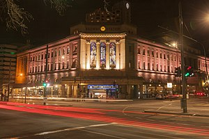 Adelaide railway station - Adelaide Railway Station at night
