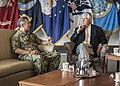 Adm. Harry Harris has a conversation with U.S. Secretary of State Rex Tillerson at PACOM Headquarters. (36379899156).jpg