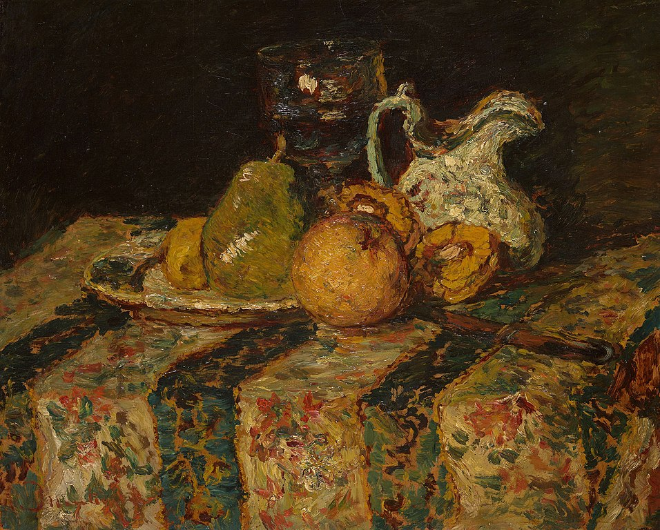 File:Adolphe Joseph Thomas Monticelli - Still Life with Fruit and Wine Jug  - 1988.261 - Art Institute of Chicago.jpg - Wikimedia Commons