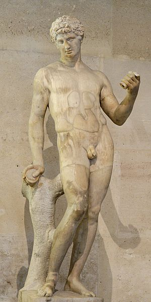 Adonis. Marble, antique torso restored and com...