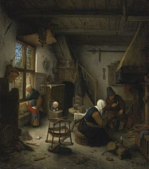 A Peasant Family in a Cottage