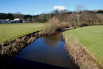 Llangeitho - Image: Afon Aeron at Llangeitho
