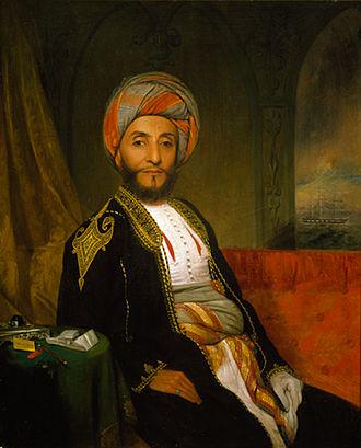 Ahmad bin Na'aman Al Kaabi - Portrait of Ahmad bin Na'aman in Peabody Essex Museum