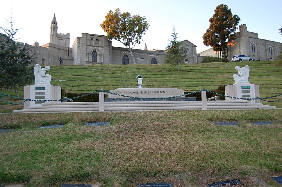 Aimee Semple McPherson grave at Forest Lawn Cemetery in Glendale, California