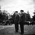 Air Chief Marshal Lord Dowding taking the salute with Air Marshal Sir Trafford Leigh Mallory, Air Officer Commanding-in-Chief Fighter Command, at a parade on the third anniversary of the Battle of Britain at Fighter Com CH11054.jpg