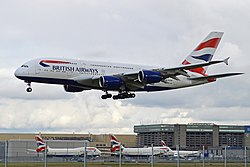 Airbus A380-841 G-XLEB British Airways (10424102995).jpg