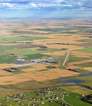 Airdrie Aerodrome - Image: Airdrie Airport Alberta Canada