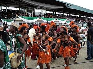 Akwa Ibom State - Dancers in Akwa Ibom attire