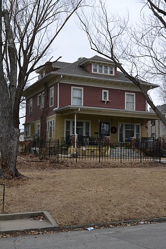 National Register of Historic Places listings in Shawnee County, Kansas - Image: Albaugh House, Topeka, KS