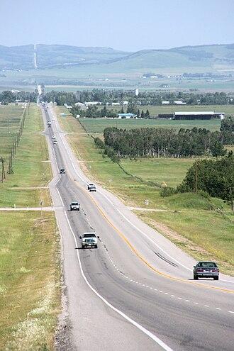 Alberta Highway 7 - Looking in direction of Black Diamond