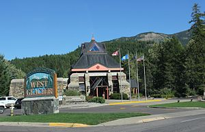 West Glacier, Montana - Travel Alberta Visitors Centre encouraging cross-border tourism