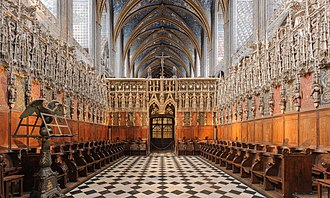 Albi Cathedral - Image: Albi Cathedral Choir non HDR Wikimedia Commons
