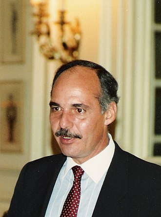 Alfredo Cristiani - Cristiani in London, September 1989