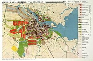 Buitenveldert - Algemeen Uitbreidingsplan 1935, including Buitenveldert garden city.