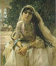 Young Berber girl in Algeria, 1888
