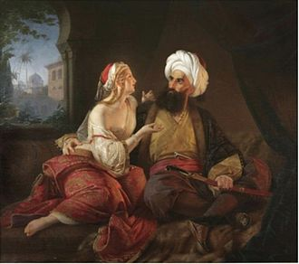 Ali Pasha of Ioannina - Ali Pasha and his favorite mistress (or wife) Kira Vassiliki, by Paul Emil Jacobs