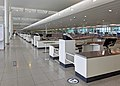 Almost empty security screening facility at BRU airport (51325877214).jpg