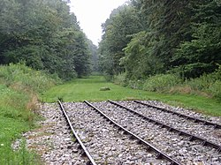 Rails at the Allegheny Portage Railroad National Historic Site