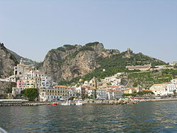 View of Amalfi from the sea