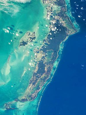 Ambergris Caye - Ambergris Caye photographed from the International Space Station