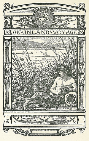 An Inland Voyage - Frontispiece by Walter Crane, of the first edition, 1878