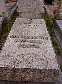 Anatol Stern grób.jpg