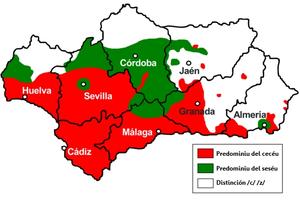 Asturianu: Mapa de cecéu y seséu