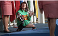 Anne Currie at the medal ceremony of 1992 Paralympic Games.jpg