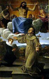 Saint Diego of Alcalá presents the son of Juan de Herrera to Christ