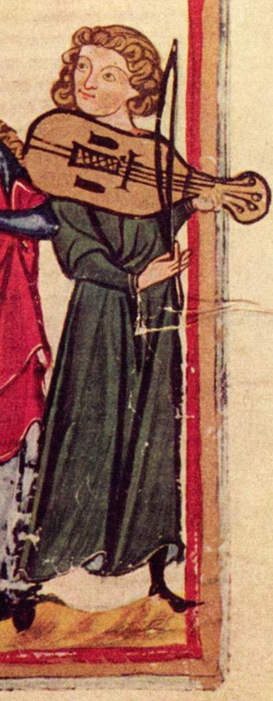 Vielart de Corbie - An anonymous vielle-player from the Codex Manesse