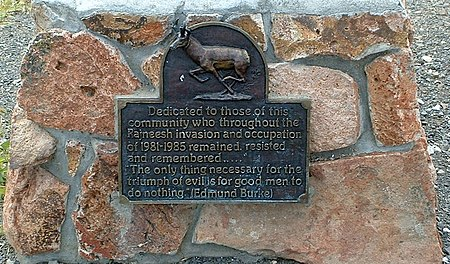 "A plaque at the Antelope post office commemorates local resistance to the Rajneeshee ""invasion""."