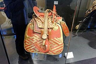 Kura (saddle) - Image: Antique Japanese (samurai) kura (saddle)