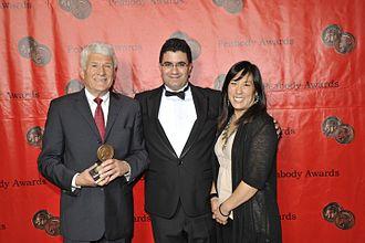 Saeed Kamali Dehghan - Antony Thomas, Saeed Kamali Dehghan and producer Carleen L. Hsu with a Peabody Award, May 2011