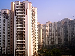 Residential complexes in Gurgaon.