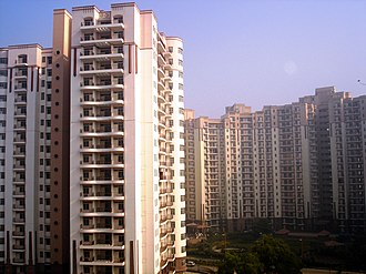 Apartment - An apartment complex in Gurgaon, Haryana, India