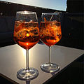 Aperol spritz as the sun goes down (16537178567).jpg