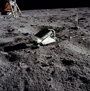 Lunar Laser Ranging experiment The Apollo landing mirror, measuring the distance between the Earth and the Moon