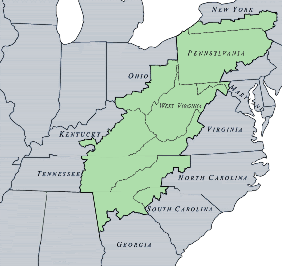 Appalachian Region of US