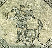 Mosaico del Buon pastore, particolare del pavimento della Basilica di Aquileia