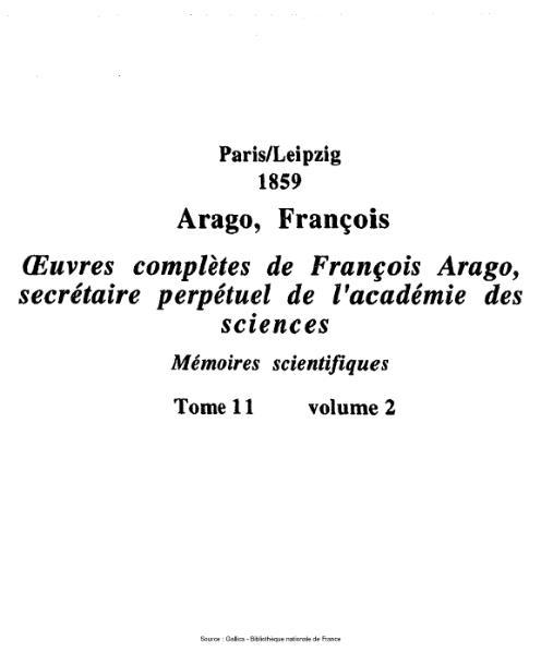 File:Arago - Œuvres complètes de François Arago, secrétaire perpétuel de l'académie des sciences, tome 11.djvu