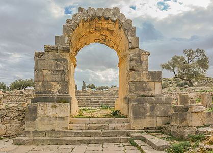 Arch in Ain Tounga a Numid City called Thignica until 46 BC