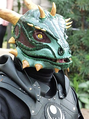 Argonian Nightingale cosplay at Katsucon 2016.jpg