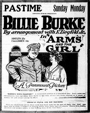 Arms and the Girl (film) - Newspaper advertisement.